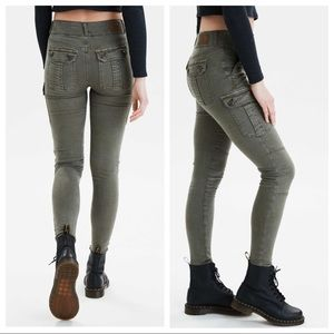 AE 8 Short Super High-Waisted Jegging Cargo Olive